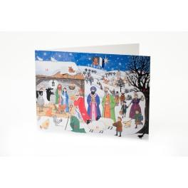 Advent Calendar Card - Jesus is born