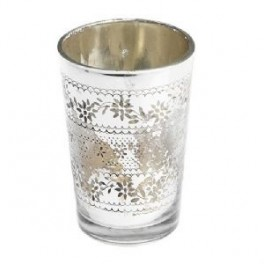 Antique Style Silver Tealight Holder