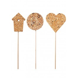 Birdfeeder on stick x 3