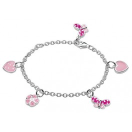 Butterfly and Heart Charm Bracelet