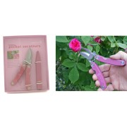 Folding Pink Secateurs Gift Set