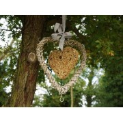 Hanging Heart Bird Feeder