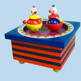 Music Box - Circus Clowns