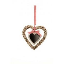 Wicker Heart with message board