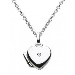 Diamond Heart Locket Necklace