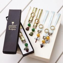 Crystal & Ribbon Bookmark